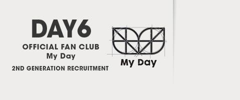 DAY6 공식 팬클럽 My Day 2기 모집