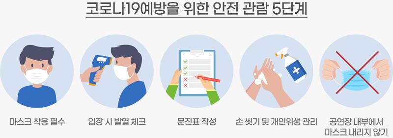 안전 관람 수칙 5단계