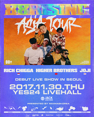 88Rising↑Debut Live Show in Seoul [Presented by Seoul Sessions, Mixmag Korea]