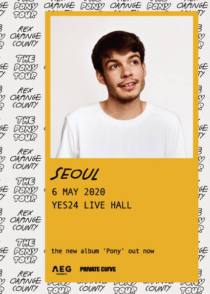 렉스 오렌지 카운티 첫 내한공연(Rex Orange County 1st Live in Seoul)