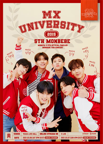 [3/7] MONSTA X 5th OFFICIAL FANCLUB MONBEBE FAN-CONCERT〈MX UNIVERSITY〉온라인 일반