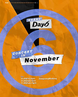 Every DAY6 Concert in November